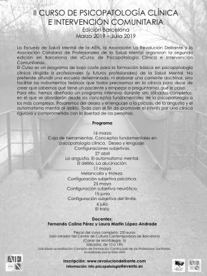 II Curso de Psicopatología Clínica e Intervención Comunitaria