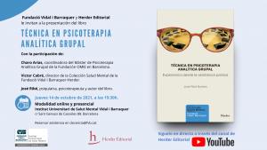 Presentació del llibre 'Técnica en psicoterapia psicoanalítica grupal'